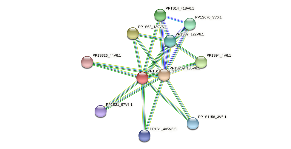 PP1S12_59V6.1 protein (Physcomitrella patens) - STRING interaction network