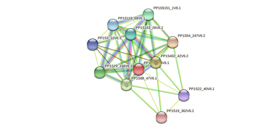 PP1S12_73V6.1 protein (Physcomitrella patens) - STRING interaction network