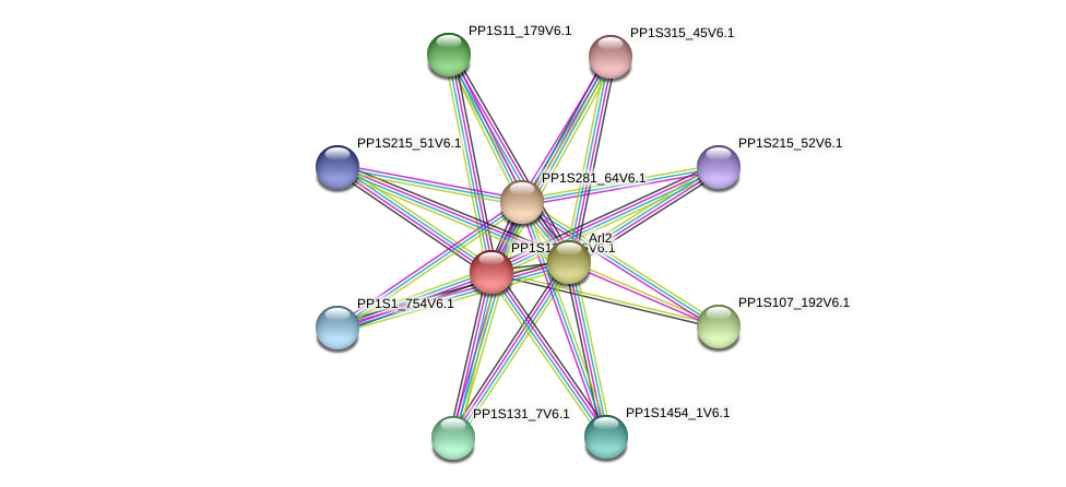 PP1S133_26V6.1 protein (Physcomitrella patens) - STRING interaction network