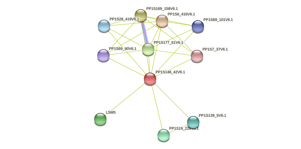 BRD1504 protein (Physcomitrella patens) - STRING interaction network