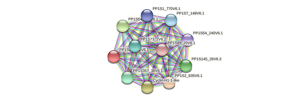 PP1S150_11V6.1 protein (Physcomitrella patens) - STRING interaction network