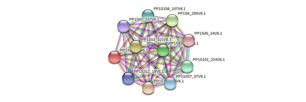 PP1S151_6V6.1 protein (Physcomitrella patens) - STRING interaction network