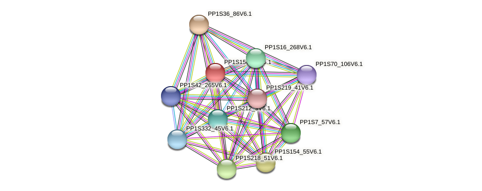 PP1S156_29V6.1 protein (Physcomitrella patens) - STRING interaction network