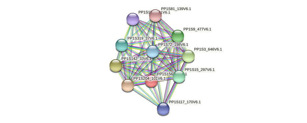 PP1S156_74V6.1 protein (Physcomitrella patens) - STRING interaction network