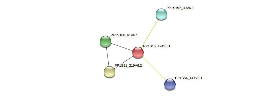 PP1S15_474V6.1 protein (Physcomitrella patens) - STRING interaction network