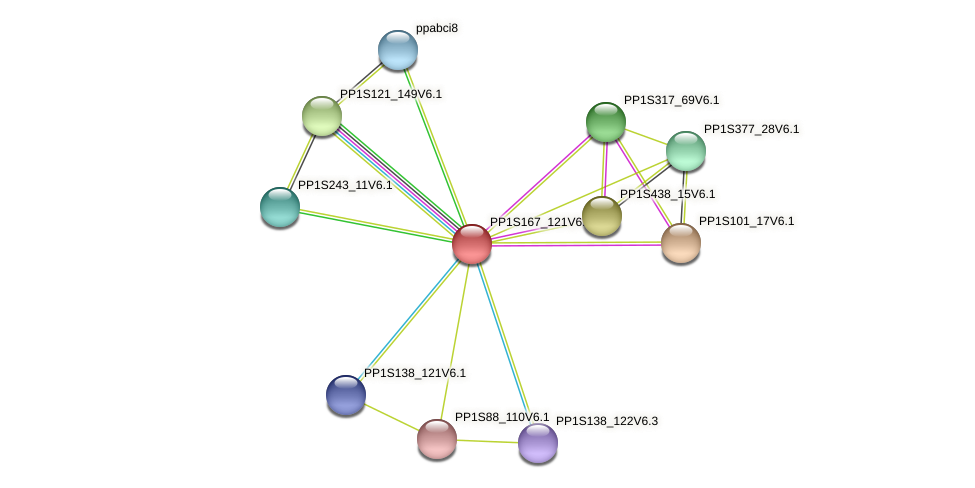 ppabcg25 protein (Physcomitrella patens) - STRING interaction network