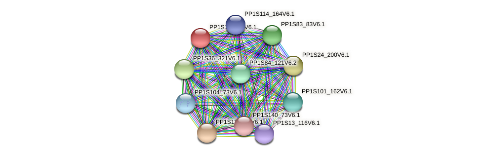 PP1S170_67V6.1 protein (Physcomitrella patens) - STRING interaction network