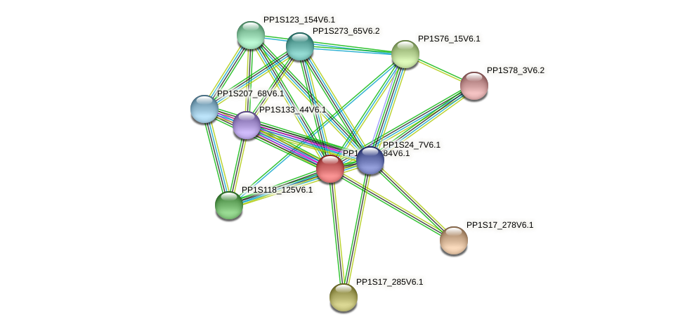 PP1S192_84V6.1 protein (Physcomitrella patens) - STRING interaction network