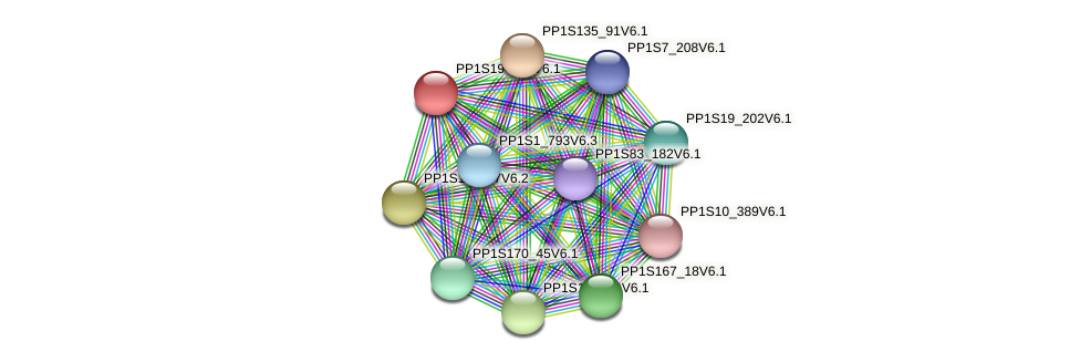 PP1S194_11V6.1 protein (Physcomitrella patens) - STRING interaction network
