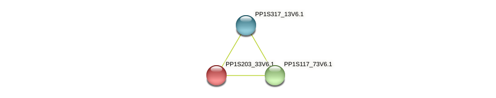 PP1S203_33V6.1 protein (Physcomitrella patens) - STRING interaction network