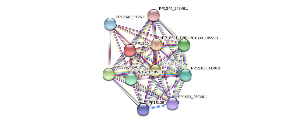 PP1S20_267V6.1 protein (Physcomitrella patens) - STRING interaction network