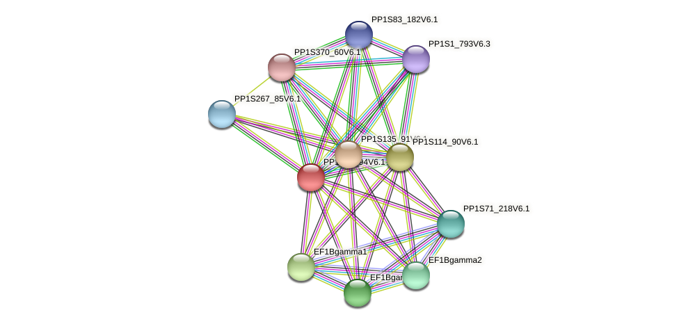 PP1S20_94V6.1 protein (Physcomitrella patens) - STRING interaction network