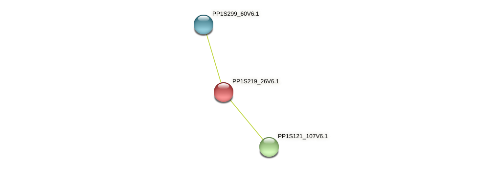 PP1S219_26V6.1 protein (Physcomitrella patens) - STRING interaction network