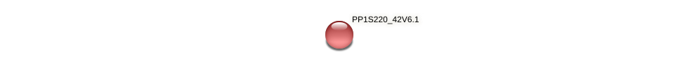 PP1S220_42V6.1 protein (Physcomitrella patens) - STRING interaction network