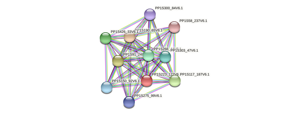 PP1S223_122V6.1 protein (Physcomitrella patens) - STRING interaction network