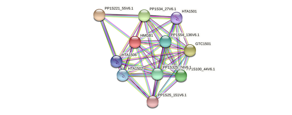PP1S223_15V6.1 protein (Physcomitrella patens) - STRING interaction network
