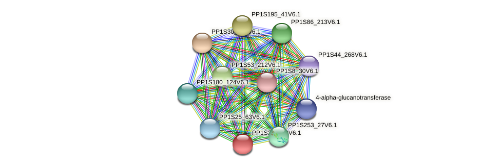 PP1S223_59V6.1 protein (Physcomitrella patens) - STRING interaction network