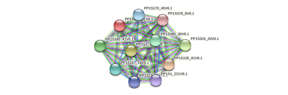 PP1S229_21V6.1 protein (Physcomitrella patens) - STRING interaction network