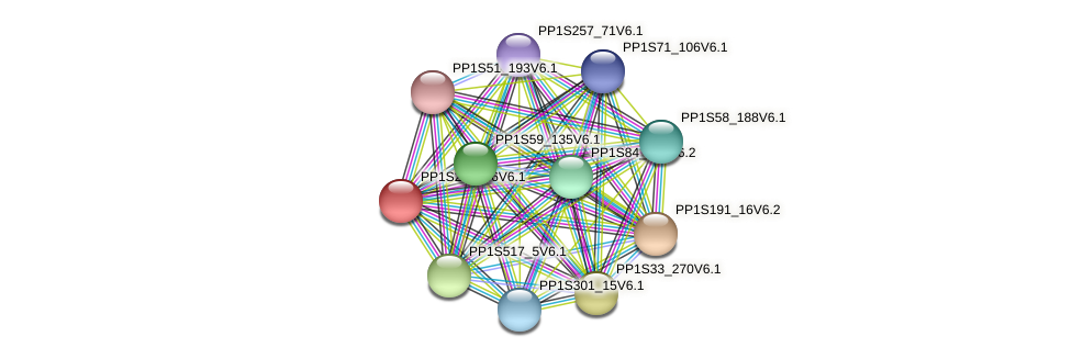 PP1S232_86V6.1 protein (Physcomitrella patens) - STRING interaction network