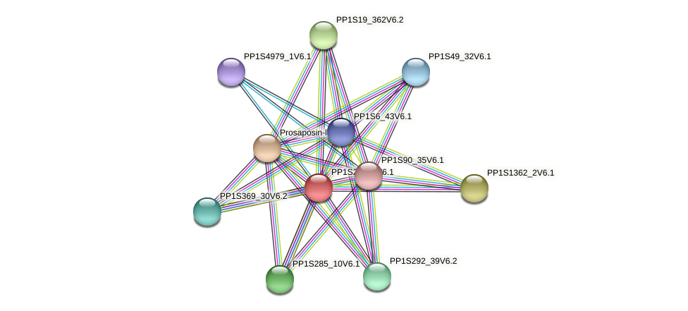 PP1S236_9V6.1 protein (Physcomitrella patens) - STRING interaction network