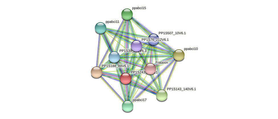 ppabci18 protein (Physcomitrella patens) - STRING interaction network