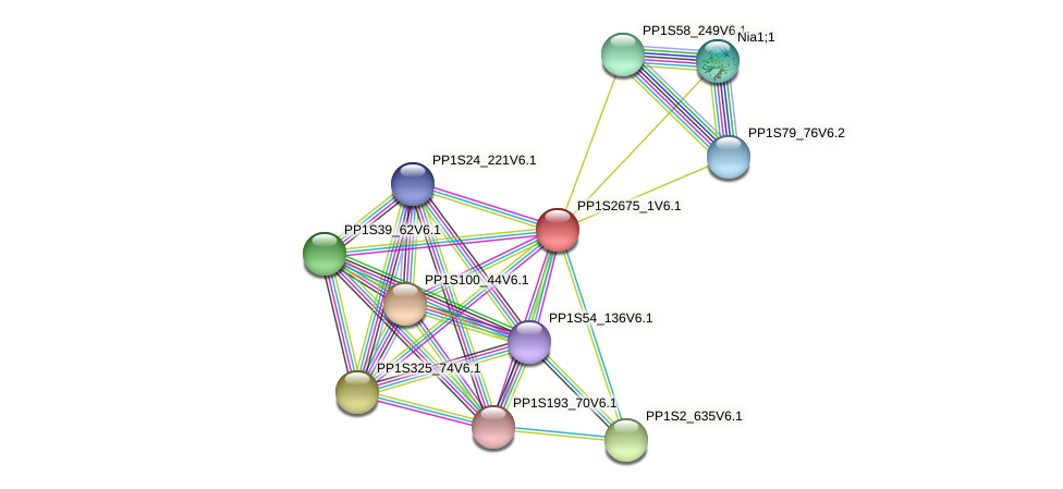 PP1S2675_1V6.1 protein (Physcomitrella patens) - STRING interaction network