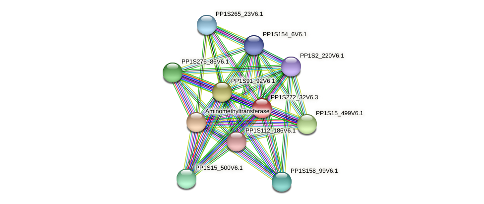PP1S272_32V6.3 protein (Physcomitrella patens) - STRING interaction network