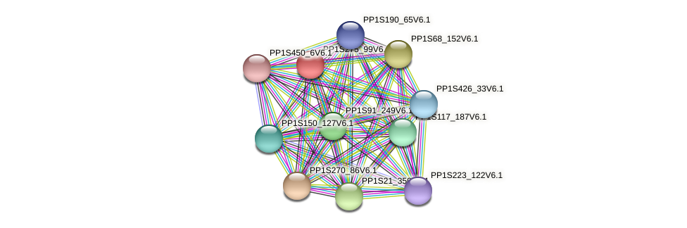 PP1S275_99V6.1 protein (Physcomitrella patens) - STRING interaction network