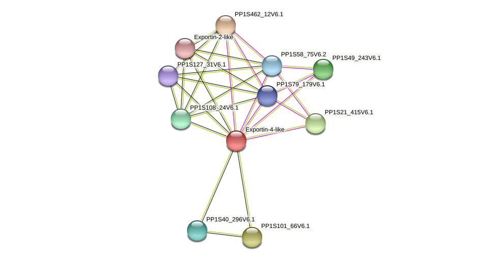 PP1S279_71V6.1 protein (Physcomitrella patens) - STRING interaction network