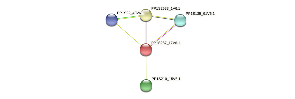 PP1S287_17V6.1 protein (Physcomitrella patens) - STRING interaction network