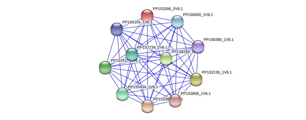 PP1S3266_2V6.1 protein (Physcomitrella patens) - STRING interaction network