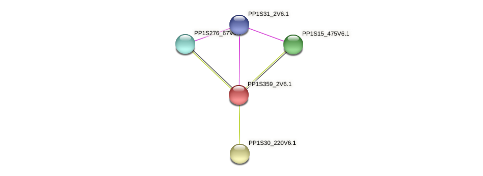 PP1S359_2V6.1 protein (Physcomitrella patens) - STRING interaction network
