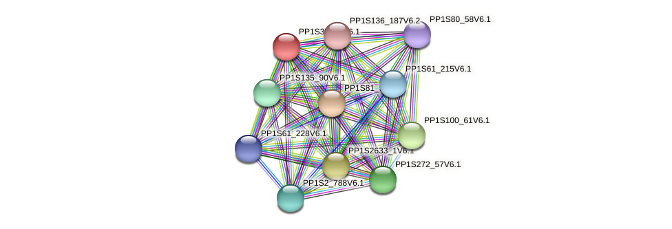 PP1S37_50V6.1 protein (Physcomitrella patens) - STRING interaction network