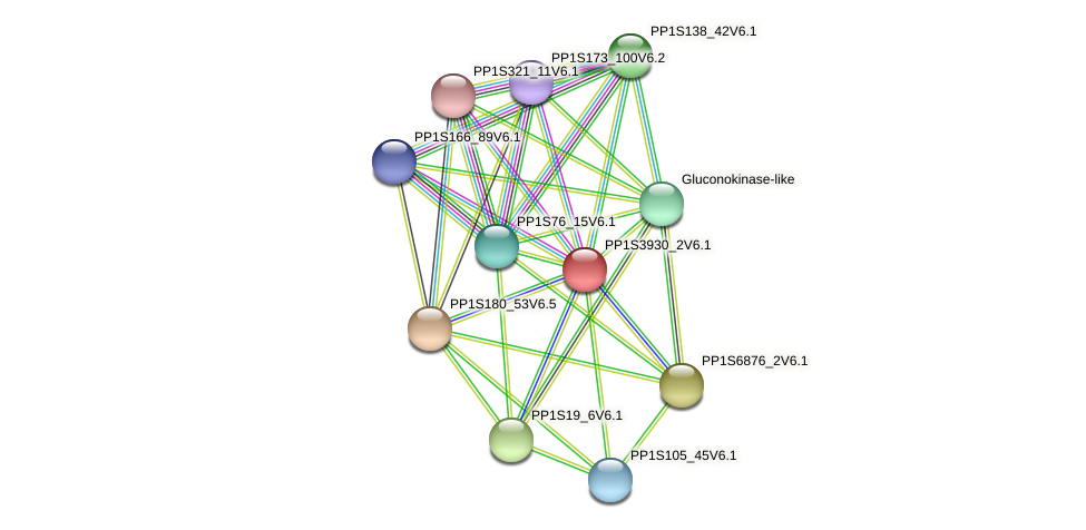 PP1S3930_2V6.1 protein (Physcomitrella patens) - STRING interaction network