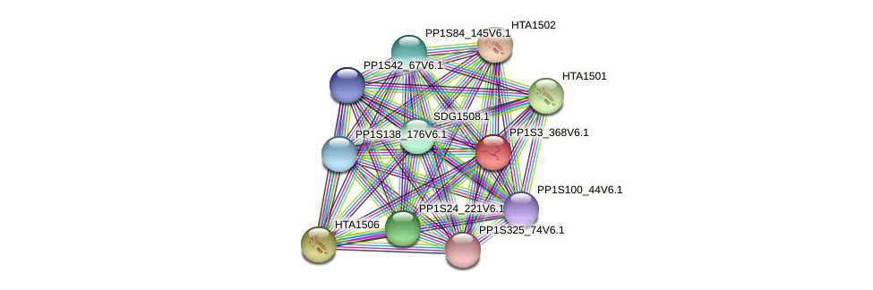 PP1S3_368V6.1 protein (Physcomitrella patens) - STRING interaction network