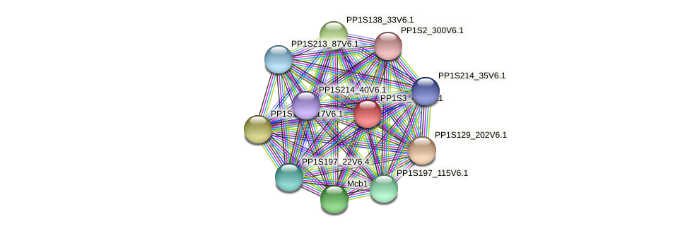 PP1S3_459V6.1 protein (Physcomitrella patens) - STRING interaction network