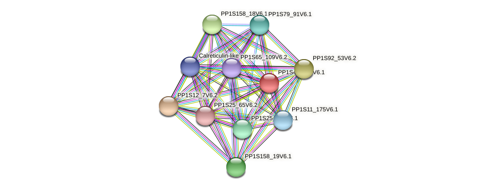 PP1S41_238V6.1 protein (Physcomitrella patens) - STRING interaction network