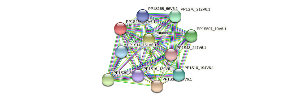 PP1S456_27V6.1 protein (Physcomitrella patens) - STRING interaction network