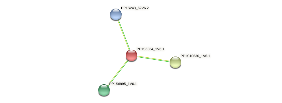 PP1S6864_1V6.1 protein (Physcomitrella patens) - STRING interaction network