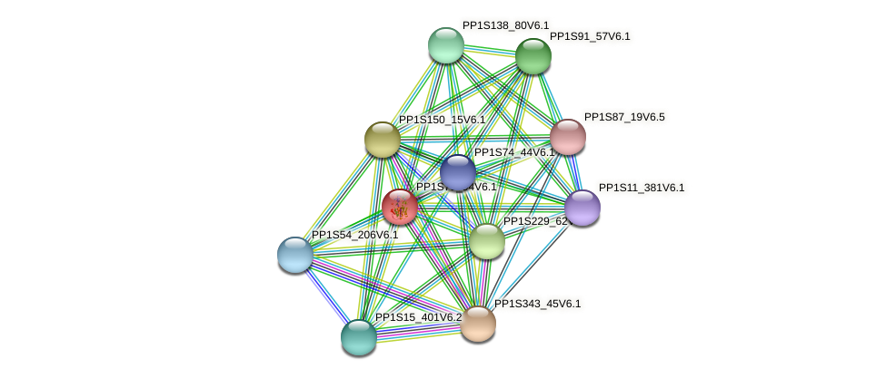 PP1S79_94V6.1 protein (Physcomitrella patens) - STRING interaction network