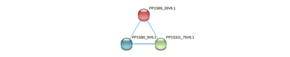 PP1S89_26V6.1 protein (Physcomitrella patens) - STRING interaction network
