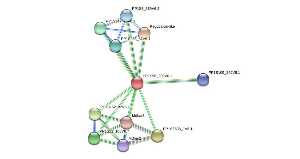 PP1S96_200V6.1 protein (Physcomitrella patens) - STRING interaction network