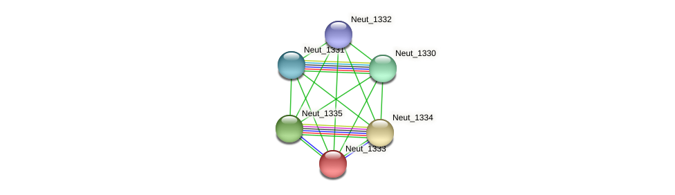 Neut_1333 protein (Nitrosomonas eutropha) - STRING interaction network