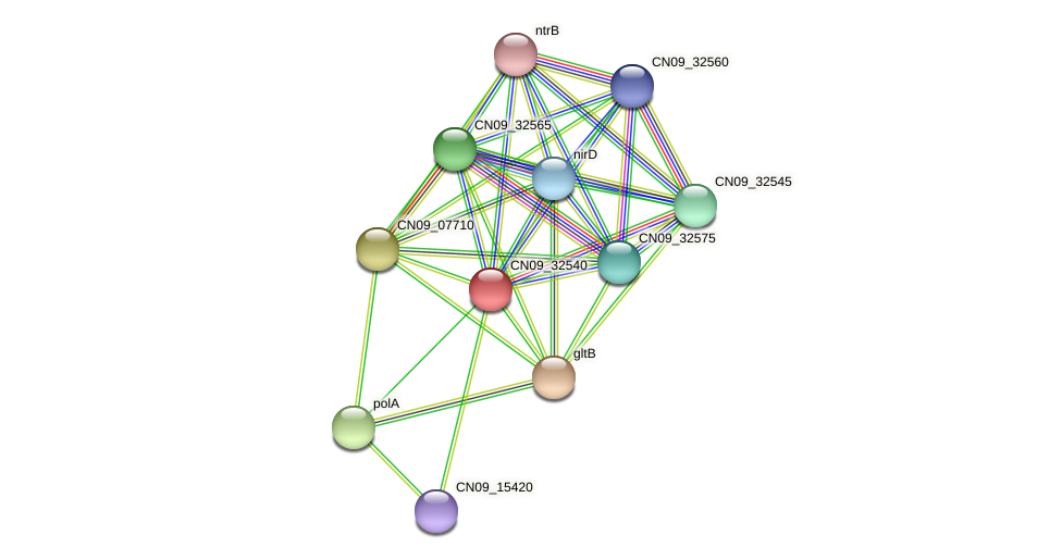CN09_32540 protein (Agrobacterium rhizogenes) - STRING interaction network