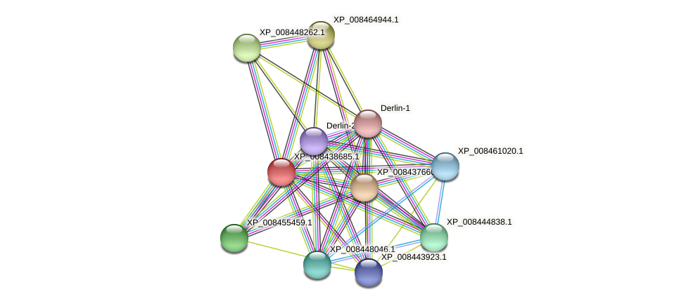 XP_008438685.1 protein (Cucumis melo) - STRING interaction network