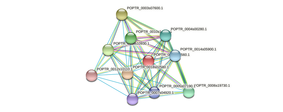 POPTR_0001s08560.1 protein (Populus trichocarpa) - STRING interaction network