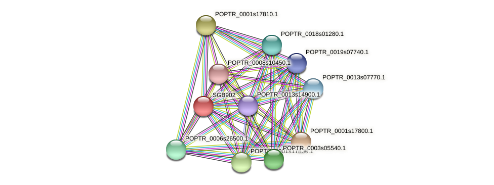 POPTR_0001s26920.1 protein (Populus trichocarpa) - STRING interaction network