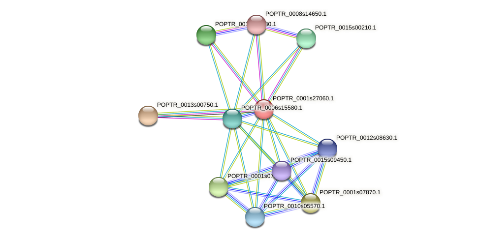 POPTR_0001s27060.1 protein (Populus trichocarpa) - STRING interaction network