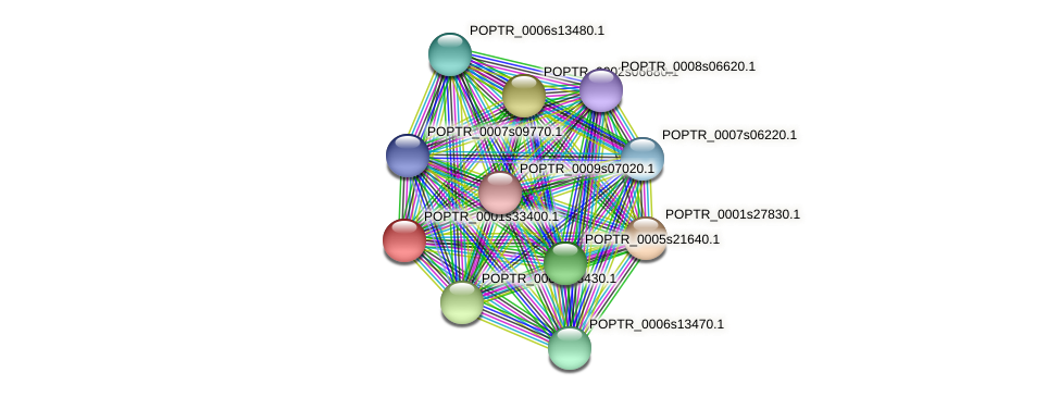 POPTR_0001s33400.1 protein (Populus trichocarpa) - STRING interaction network