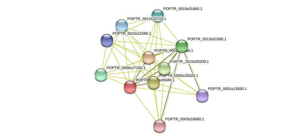 POPTR_0001s45680.1 protein (Populus trichocarpa) - STRING interaction network